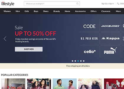 69fbd1311b109 Lifestyle Coupons, Coupon Code → Flat 50% OFF + Extra 15% OFF