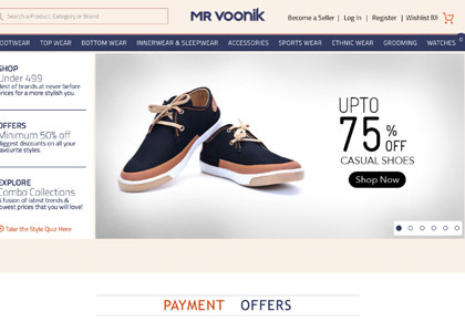 Mr Voonik Promo Codes | Coupons | Offers