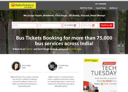 Mybustickets Promo Codes | Coupons | Offers