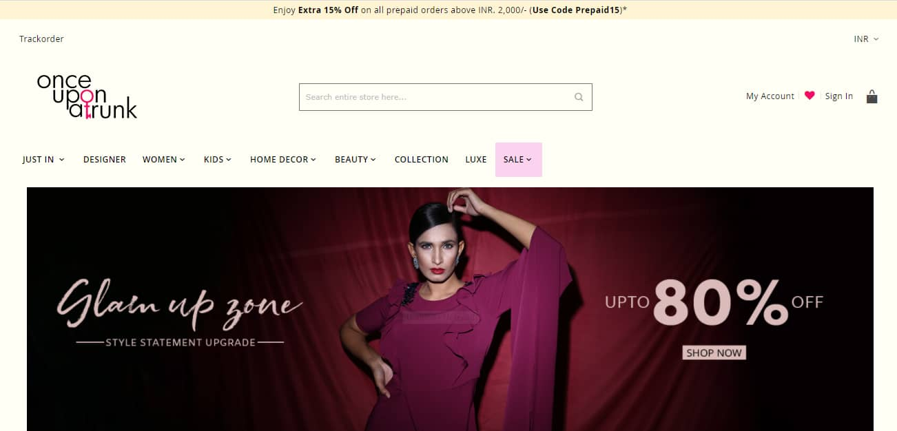 Once Upon A Trunk Promo Codes | Coupons | Offers