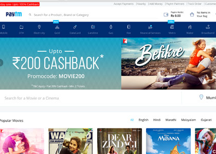 Paytm Movies Promo Codes | Coupons | Offers