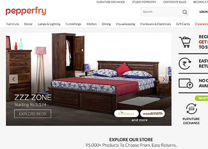 Pepperfry Promo Codes | Coupons | Offers