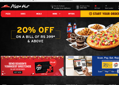 Pizza Hut Promo Codes | Coupons | Offers