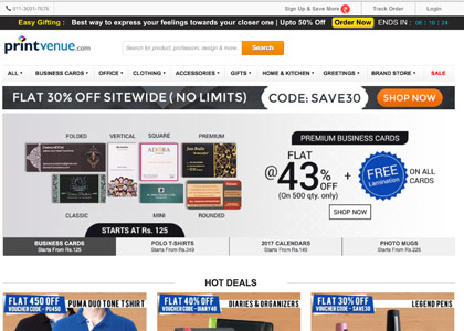 Printvenue Promo Codes | Coupons | Offers