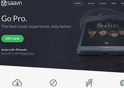 Saavn Pro Promo Codes | Coupons | Offers