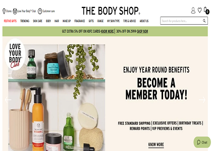 The Body Shop Promo Codes | Coupons | Offers