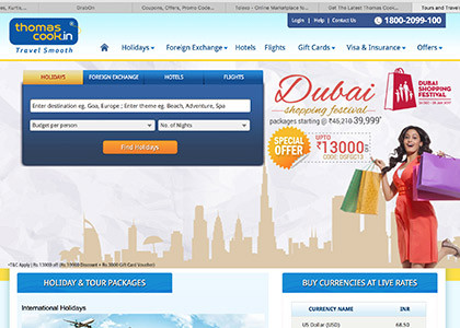 Thomas Cook Promo Codes | Coupons | Offers