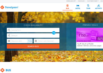 Travelyaari Promo Codes | Coupons | Offers