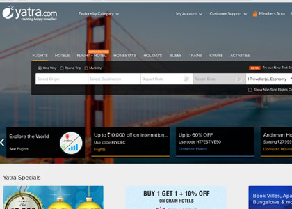 Yatra Promo Codes | Coupons | Offers