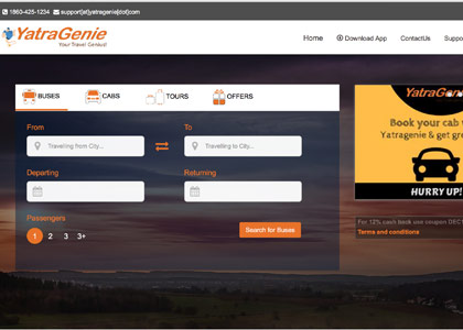 YatraGenie Promo Codes   Coupons   Offers